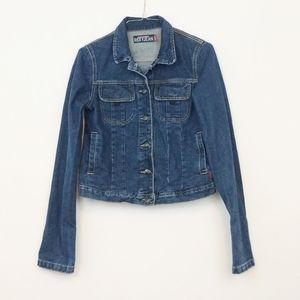 Quicksliver Roxy Jean Jacket Size Small Dark Wash